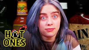 <b>Billie Eilish</b> Freaks Out While Eating Spicy Wings | <b>Hot</b> Ones ...