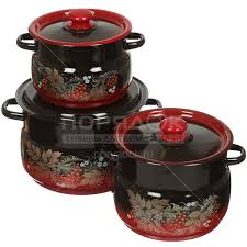 <b>Набор эмалированной посуды Сибирские</b> товары Рябинка 11 ...