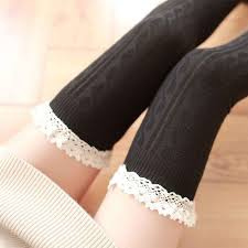 Hot <b>New Fashion Candy Colors</b> Striped Thigh High Stockings ...