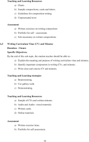 communication skills syllabus for the certificate course in 3 writing curriculum vitae cv and minutes duration 3 hours a explain