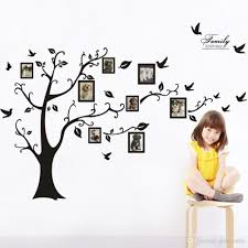 wall decal family art bedroom decor modern large photo frame family tree wall decal sticker kids room home decor