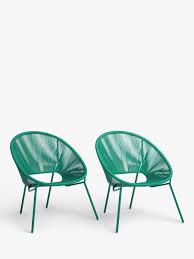 John Lewis. 4 blue <b>stackable garden chairs</b> Garden & Patio ...