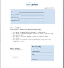 rent invoice template invoice templates rent invoice template