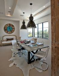modern contemporary home office decorating ideas creative stylish eclectic alcove vintage wall clock freeform rug traditional alcove contemporary home office