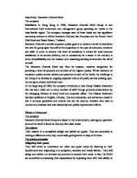 case studymandarin oriental hotel  gcse business studies