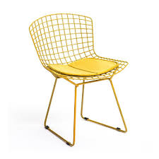 bert dining chair with pad  yellow  buy metal chairs