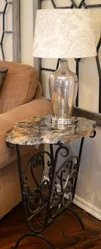 metal dining table base legs bennysbrackets: side table made from remnant of granite counter top