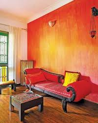 room paint red: gorgeous decorative red paint wall finish for indian interior design