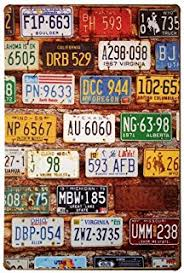 home decor plate x: erlood license plate vintage home decor wall tin sign  x