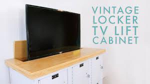 TV <b>Lift</b> Cabinet from Lockers | DIY Media Cabinet | <b>Modern</b> Builds ...