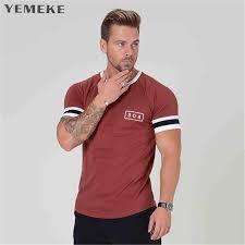 <b>YEMEKE</b> New Fashion short Summer <b>Mens T Shirt</b> Cotton <b>Men</b> ...