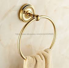 <b>Luxury Gold Color Brass</b> Towel Ring Towel Holder Towel Rack Wall ...