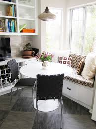 perfect built in open cabinetry storage with pedestal dining tables and homemade dining banquette with drawer as inspiring space saving interior designs banquette furniture with storage
