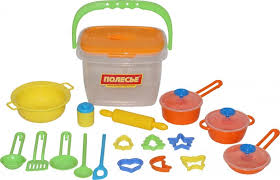 <b>Набор</b> детской посуды (<b>20 элементов</b>) (в ведёрке) - купить в ...
