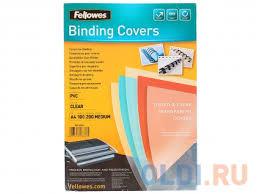 <b>Обложка Transparent А4 Fellowes</b>, 200 мкм, 100шт, прозрачный ...