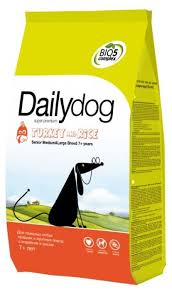 <b>Корм</b> для собак <b>Dailydog Senior</b> Medium Large Breed Turkey and ...