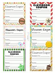 classroom behavior ticket template beginning of the year sometimes it s hard to come up good ideas for classroom coupons so i ve searched for the 20 best coupon ideas i could