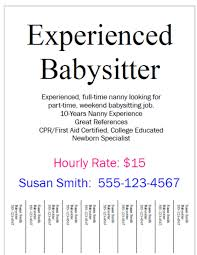 sample babysitter resume template template resume formt cover a good nanny resume letter format personal