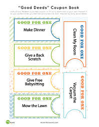 good deed coupon book printables mommy  good deed coupon book printables
