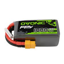 <b>Ovonic 22.2V</b> 100C 6S1P <b>22.2V</b> 1000mAh FPV Lipo Batteries <b>Pack</b> ...
