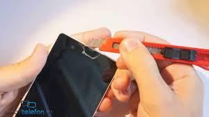 Снимаем заводские пленки с Sony Xperia Z, избавляемся от ...