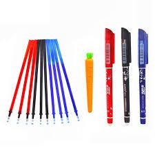 34Pcs/<b>Set Erasable</b> Gel <b>Pen</b> 0.5mm <b>Erasable Pen Refill</b> Rod Blue ...