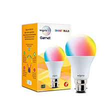 Wipro <b>WiFi</b> Enabled <b>Smart LED Bulb</b> B22 9-Watt (16 Million Colors + ...