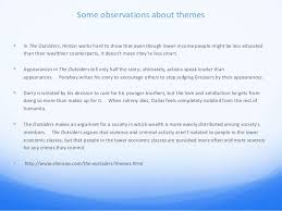 the outsiders essay power point cm       some observations about themes ï'Â  in the outsiders