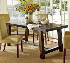 pottery barn style dining table: dining roomvintage pottery barn style dining table decor design ideas cream shag rug white