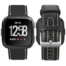 UMAXGET Compatible Fitbit Versa Band Genuine ... - Amazon.com