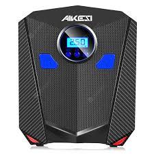 AKS-5501 <b>Car</b> Inflatable Pump Black Digital display <b>Car</b> Inflatable ...