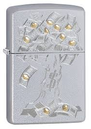 "<b>Зажигалка</b> Zippo 29999 ""<b>Money</b> Tree Design"" <b>Satin Chrome</b>, Зиппо ..."