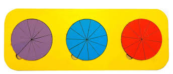 <b>Обучающая игра Taowa Дроби</b> 3 круга (вид 4) синий — купить в ...