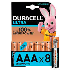<b>Duracell Ultra</b> Alkaline <b>AAA</b> Batteries, pack of 8   Sainsbury's
