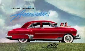 1952 chevrolet wiring diagram 1952 chevrolet car genuine accessories