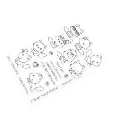 DIY Craft <b>Cat Transparent Silicone Clear Rubber</b> Stamp Cling Diary ...
