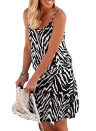 Biucly <b>Women's</b> Trendy Halter <b>O</b>-<b>Neck</b> Print and Solid Sleeveless ...