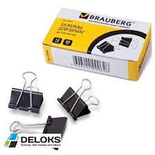 Купить доступные <b>зажимы</b> для бумаг <b>BRAUBERG</b> комплект <b>12 шт</b> ...