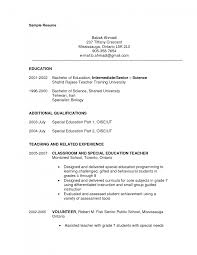 examples of teaching resumes resume examples for teachers aajd gallery of resume example teacher