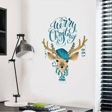 1pc Merry <b>Christmas</b> Wall Sticker Home <b>Decor</b> Stickers <b>Cartoon</b> ...