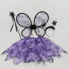 Pack of 4 Girls <b>Halloween</b> Costumes Fairy Fancy Cute <b>Purple Tutu</b> ...