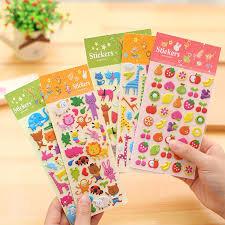 5pcs cute cartoon animal bubble cotton sticker decoration sticker ...