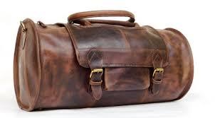 HKS Gym/Duffle <b>Bag Genuine Leather Round</b> Duffle/gym <b>Bag</b>, Rs ...