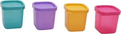 Buy Tupperware Cool Square Mini <b>Beautiful</b> Set, 80ml, <b>4 Pieces</b> ...