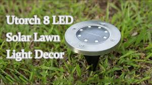 Utorch <b>8 LED Solar Lawn</b> Light Decor - GearBest.com