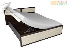 <b>Кровать 1</b>,6 с подъемным механизмом <b>Венеция</b>-<b>1</b> (МК <b>Стиль</b> ...