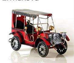 2019 <b>Metal Old Car Figurine</b> Vintage Vehicle Model Car Figurine ...