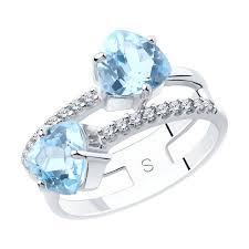 Купить серебряное <b>кольцо</b> с <b>топазами</b> 3 <b>4</b> 5 арт. 92011885 за 2 ...