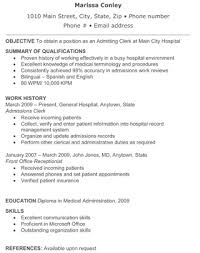 retail store resume  assistant manager   my perfect resume  retail    hospital admitting clerk resume   the resume template site