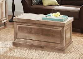 room vintage chest coffee table: rustic wood coffee table weathered slide top storage trunk living